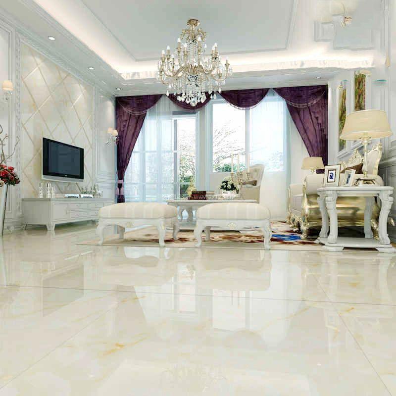 室内2017现代简欧客厅瓷砖铺贴图片_装修123效果图