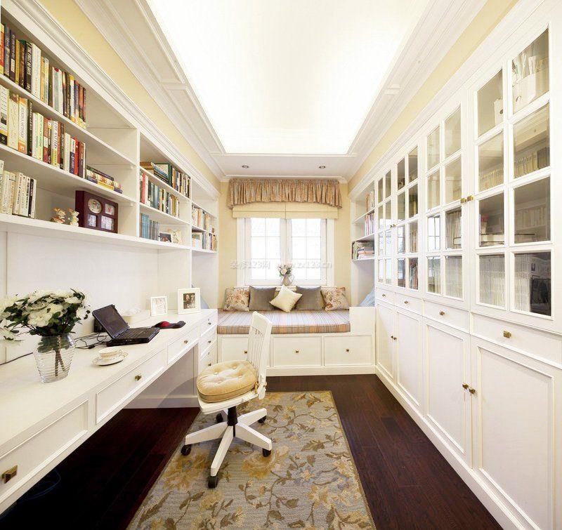 3室1厅装修卧室兼书房设计效果图