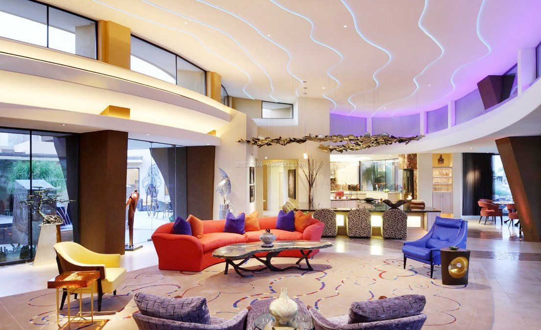 杭州独栋别墅家庭室内装修效果图片图片