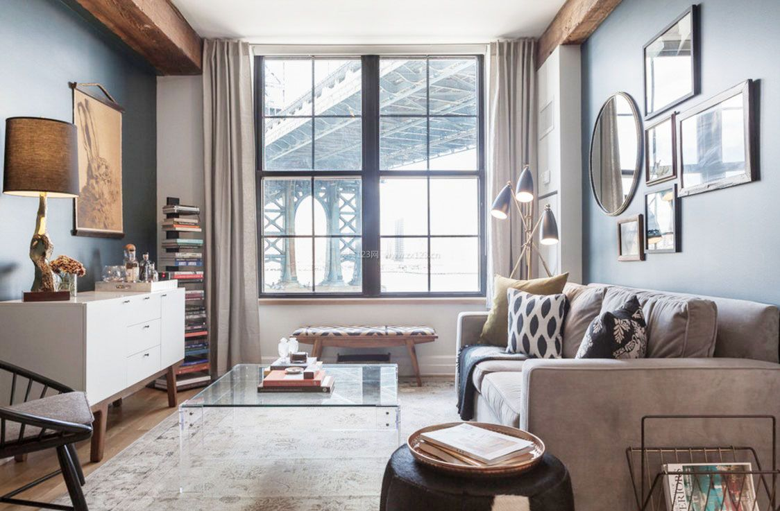 6平米小房间现代简欧客厅装修效果图