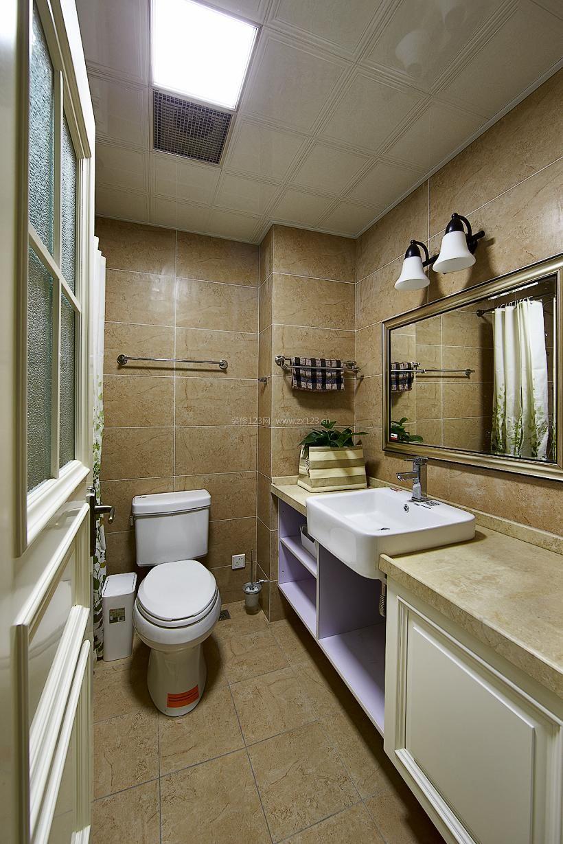 主卧室卫生间瓷砖背景墙装修效果图大全2017