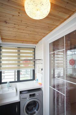 小户型卧室阳台洗衣机装修效果图