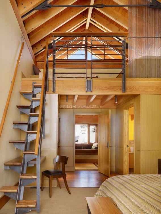 家装效果图 阁楼 自建房小空间阁楼楼梯设计效果图 提供者