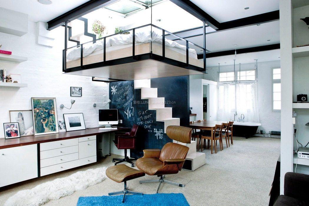 小空间阁楼楼楼梯背景墙设计效果图