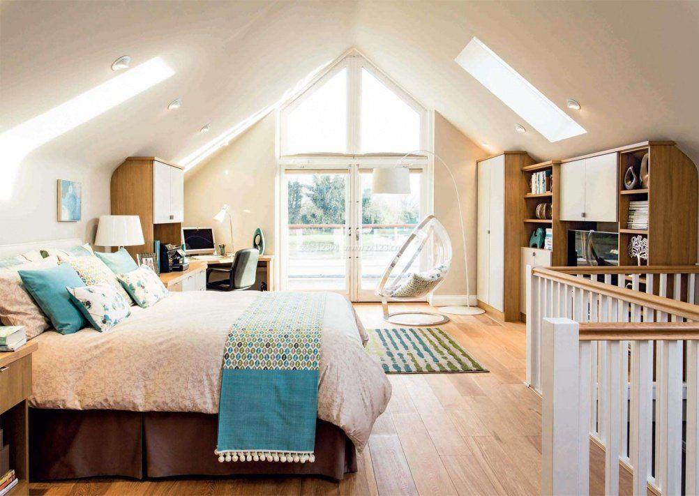 100平米房屋简单阁楼卧室设计装修效果图2017