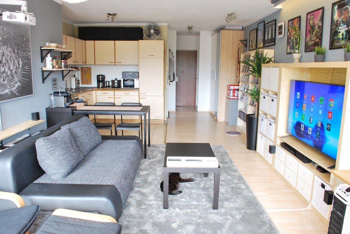 100平米房屋单身公寓简单装修效果图