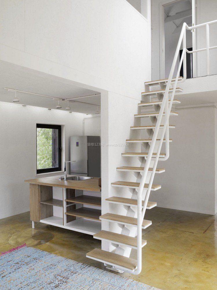 北欧室内小空间阁楼楼梯设计装修效果图