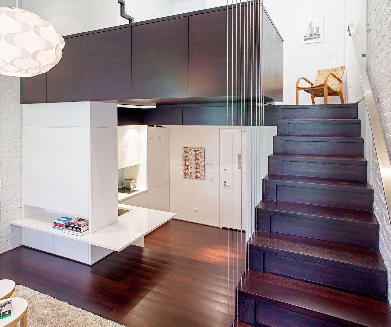 2017小空间阁楼楼梯扶手设计图片大全