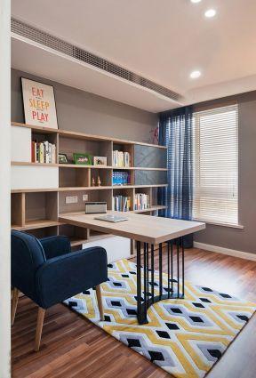 2017现代书房书柜设计图片