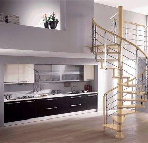 2020小空间阁楼旋转楼梯设计平面图片-每日推荐
