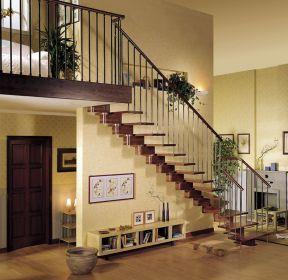 欧式乡村小空间阁楼楼梯设计