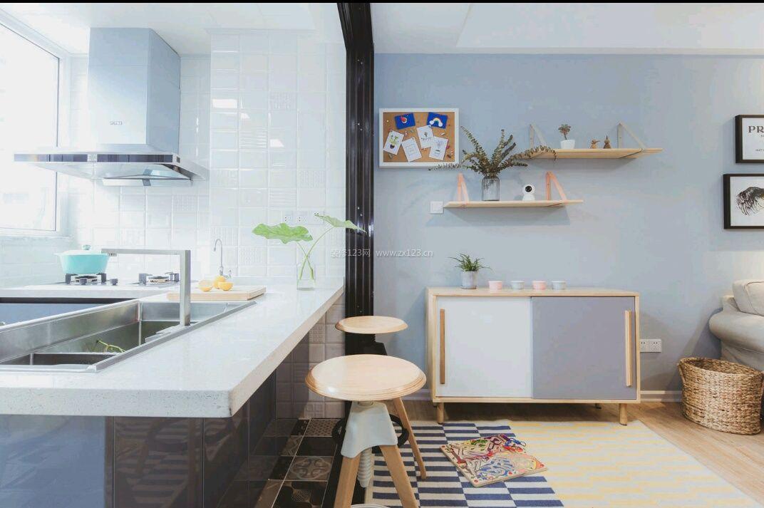 北欧风格家装阳台厨房装修效果图片