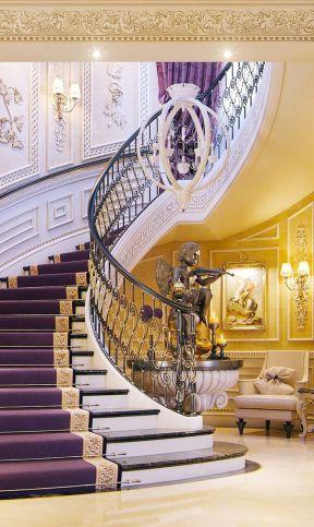 豪华别墅内部楼梯设计装修图