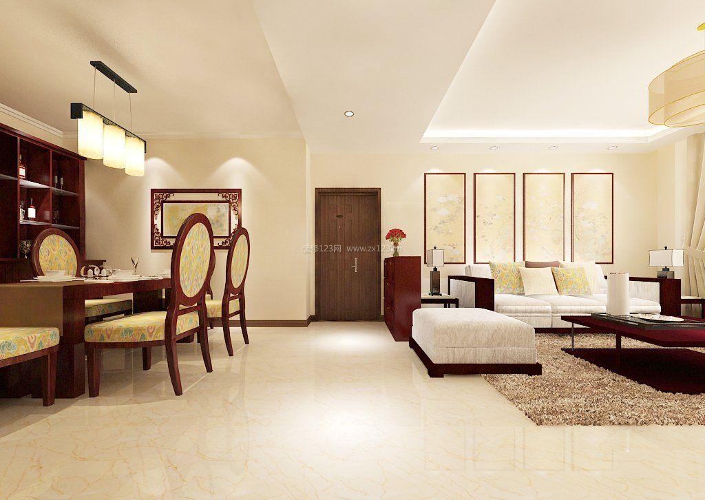 小户型中式客厅沙发背景墙装修图片