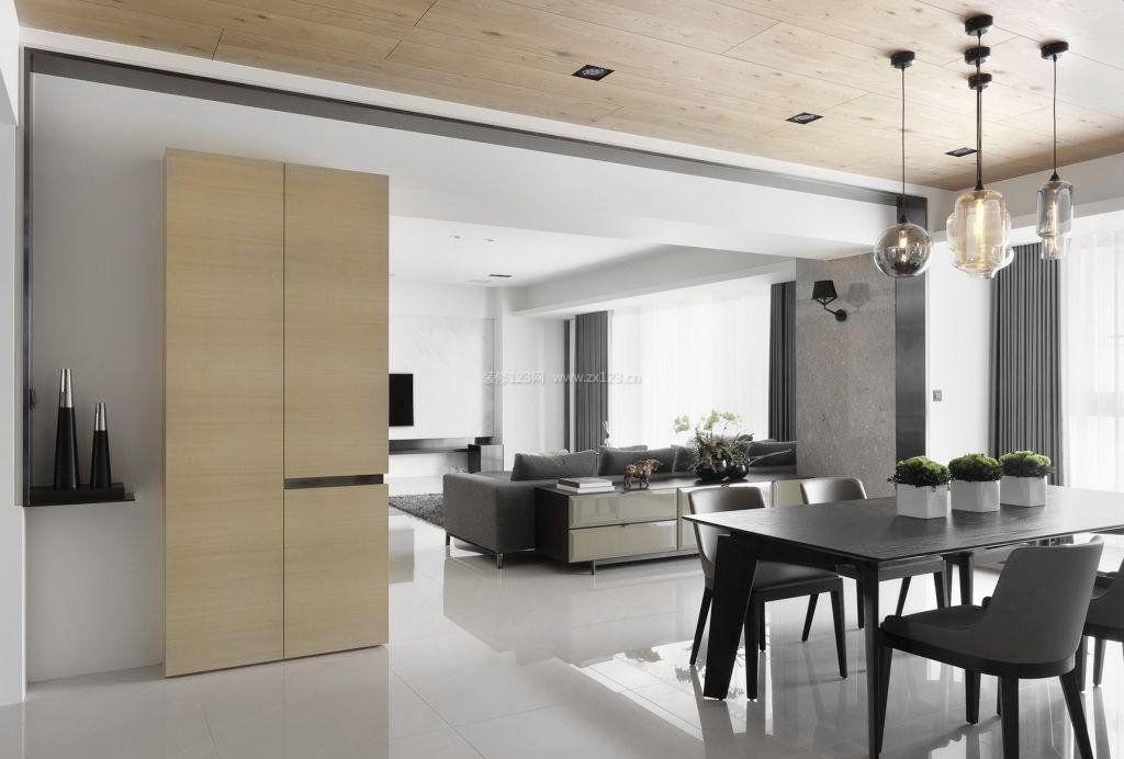 现代简约黑白风格房子装修图图片