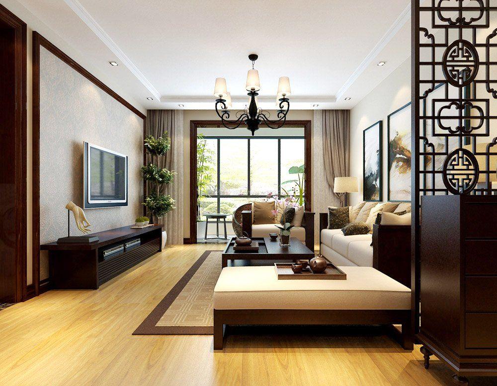 家装效果图 中式 小户型新中式客厅装修效果图2017 提供者:   ←