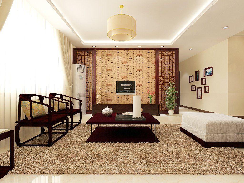 小户型中式风格客厅装修图图片