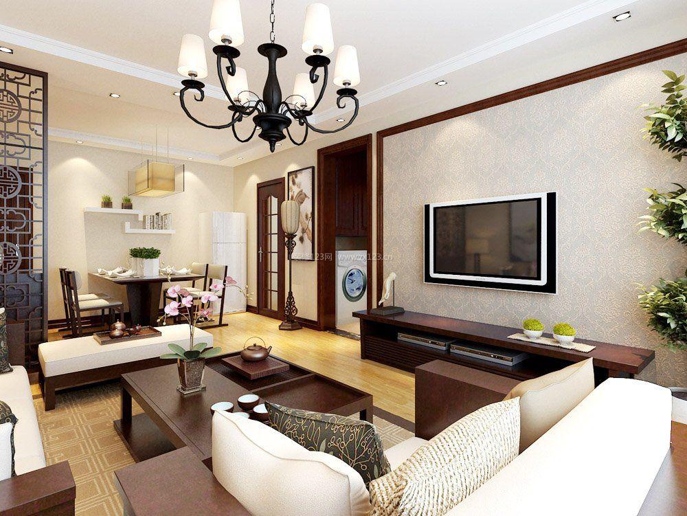小户型现代中式客厅装修图片