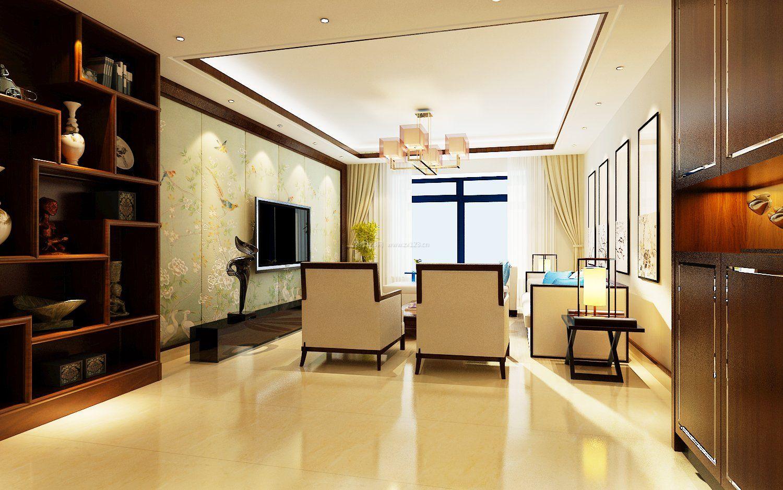小户型中式客厅设计装修图
