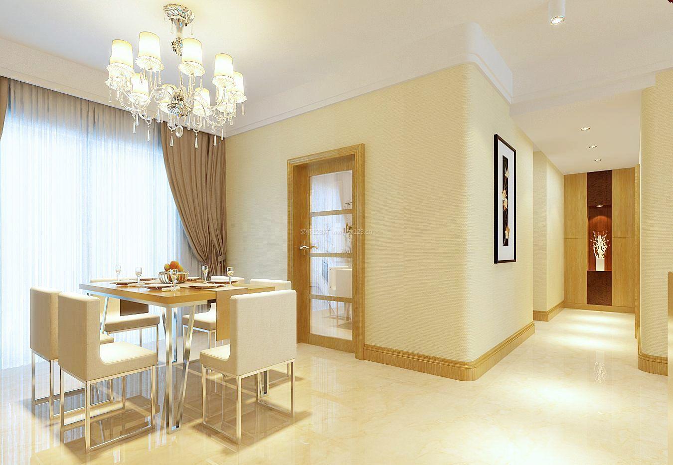现代简约风格房子餐厅设计装修图片
