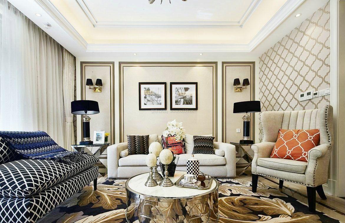 现代简约风格房子客厅装修图2017图片