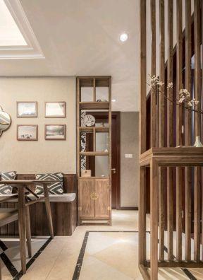家装现代中式风格效果图 餐厅卡座效果图