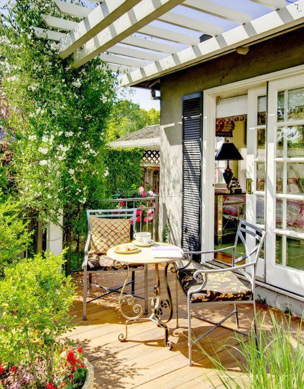 2017高层卧室阳台花园装修效果图片