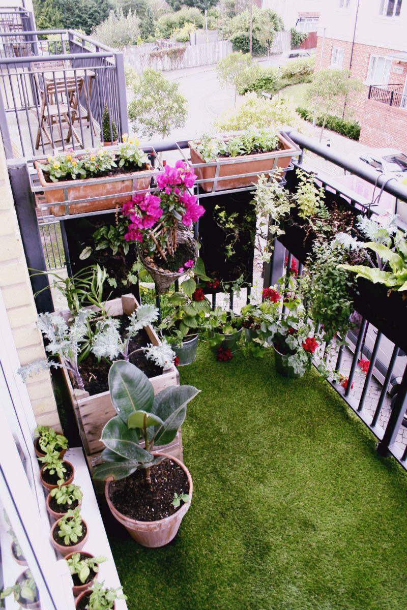高层阳台小花园设计装修效果图2017图片