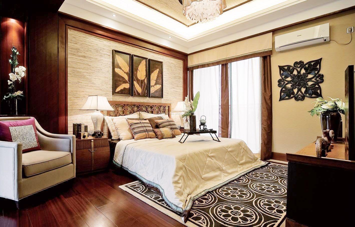 现代简约家居床头背景墙挂画装饰效果图2017