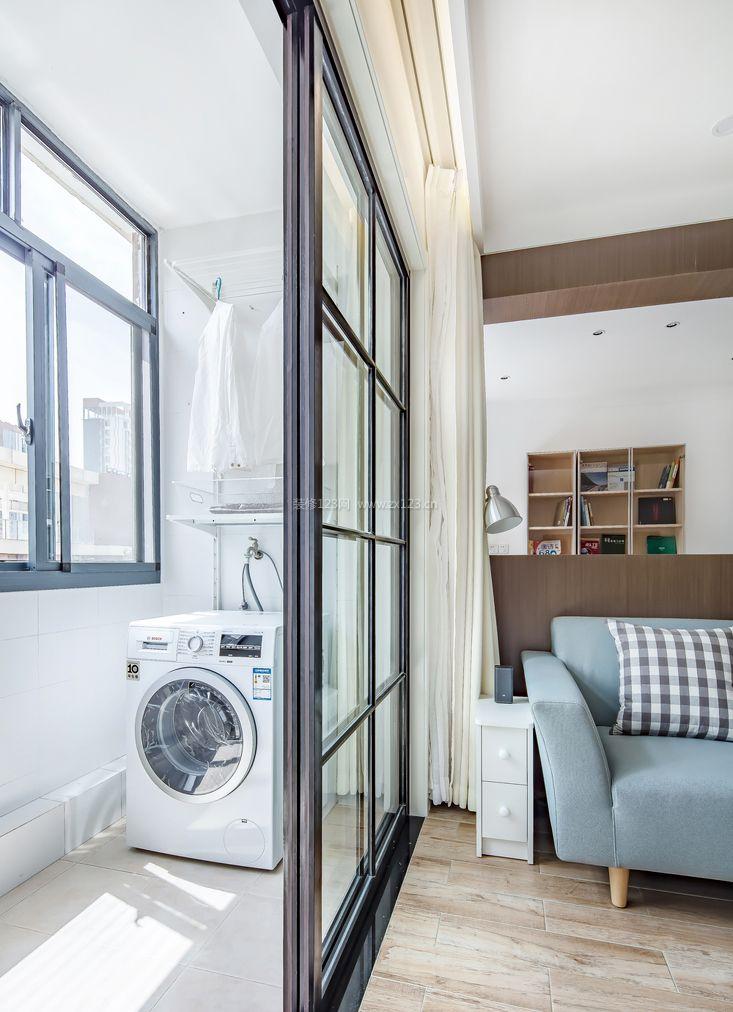 小户型客厅阳台洗衣机装修效果图