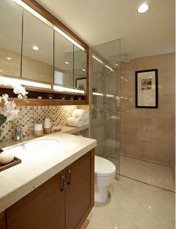 新中式卫生间整体浴室柜装修效果图片