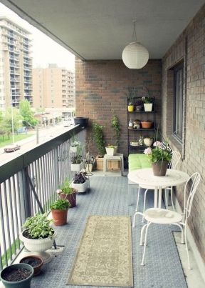 高层阳台花园装修效果图 地面贴图