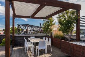 高层阳台花园装修效果图 2017楼顶平台设计实景图