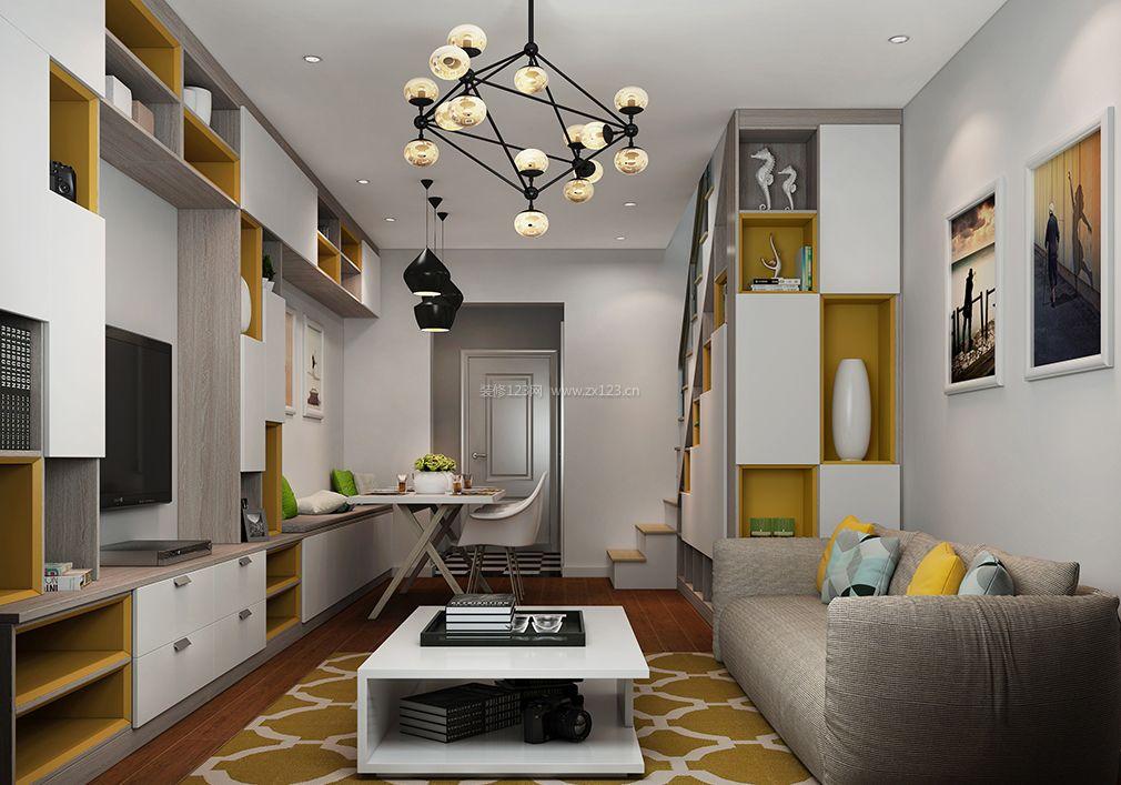 40平小户型复式组合家具装修图片