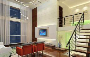 40平小復式裝修 挑高客廳裝修效果圖