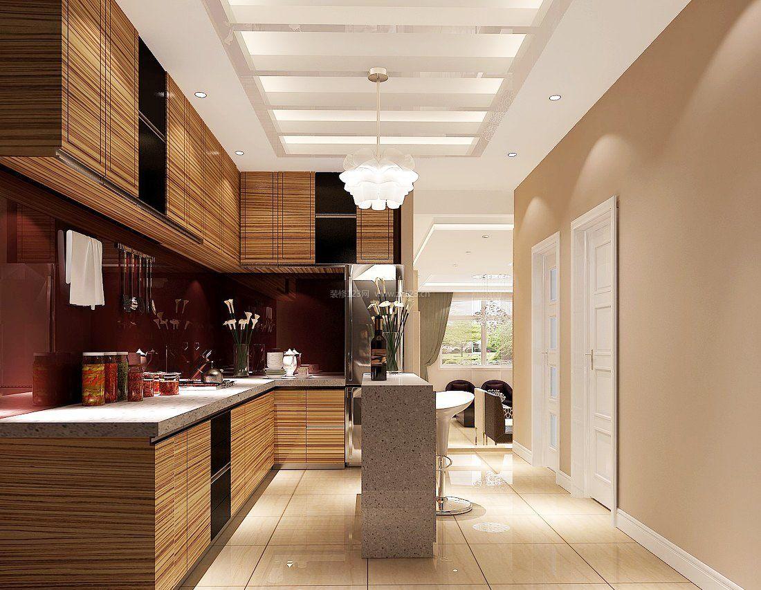 现代厨房餐厅吧台隔断造型图
