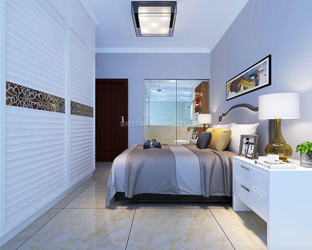 92平米三居室主卧室衣柜推拉门装修效果图2017