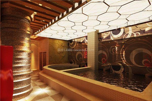 洗浴中心浴池吊顶装修设计效果图