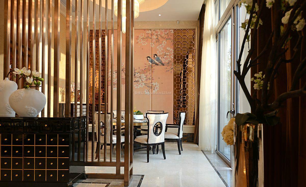 新中式复式楼餐厅整体装修效果图图片