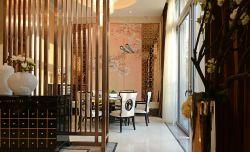 新中式復式樓餐廳整體裝修效果圖