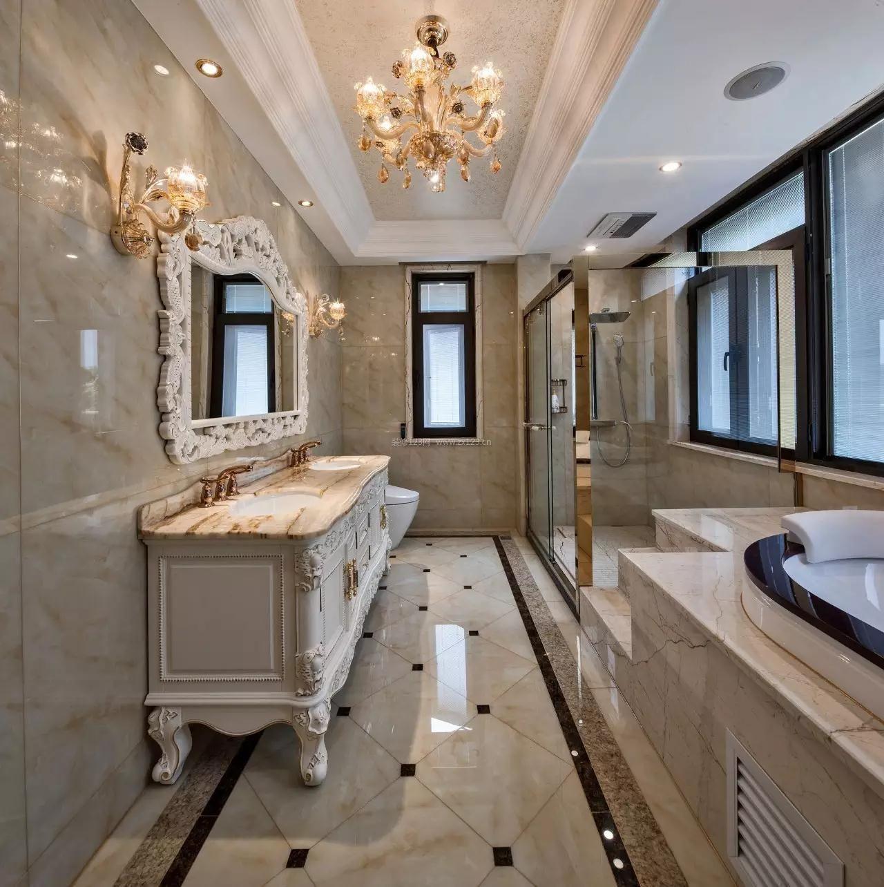 别墅奢华卫生间装修效果图