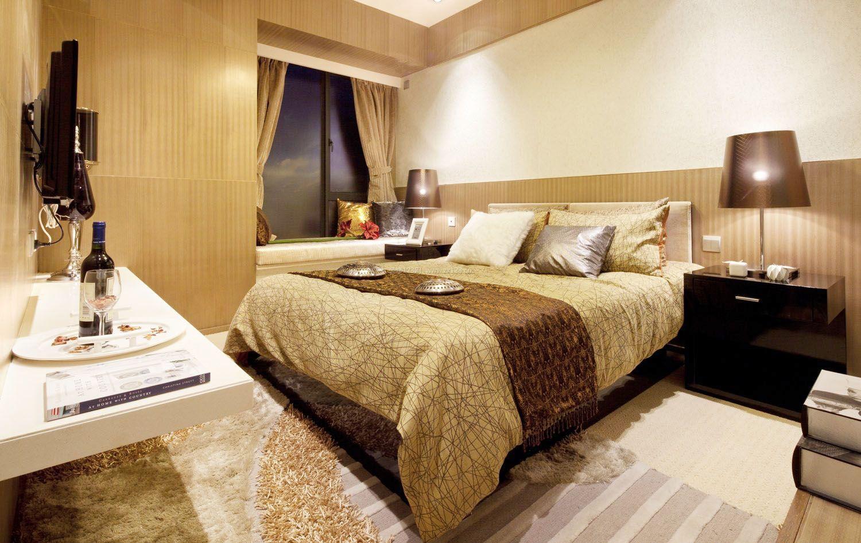 现代家装主卧室床头背景墙效果?#35745;?017
