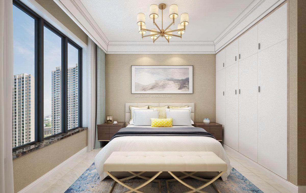 床头背景墙装修效果图_卧室看不厌的墙漆颜色