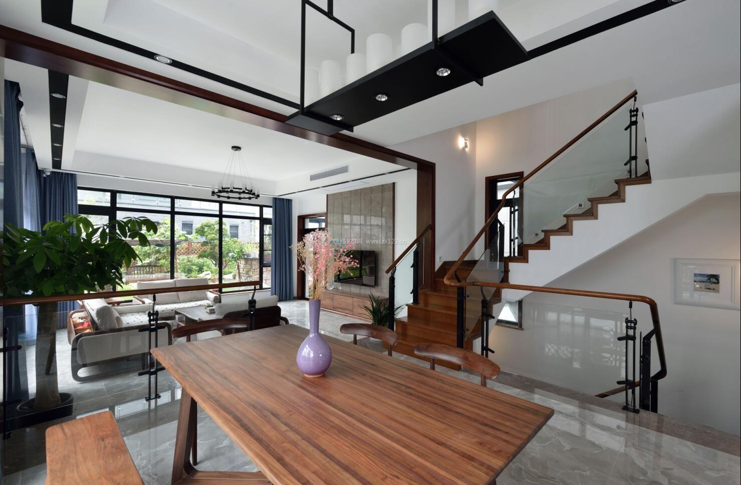 2017现代新中式别墅室内设计装修效果图片