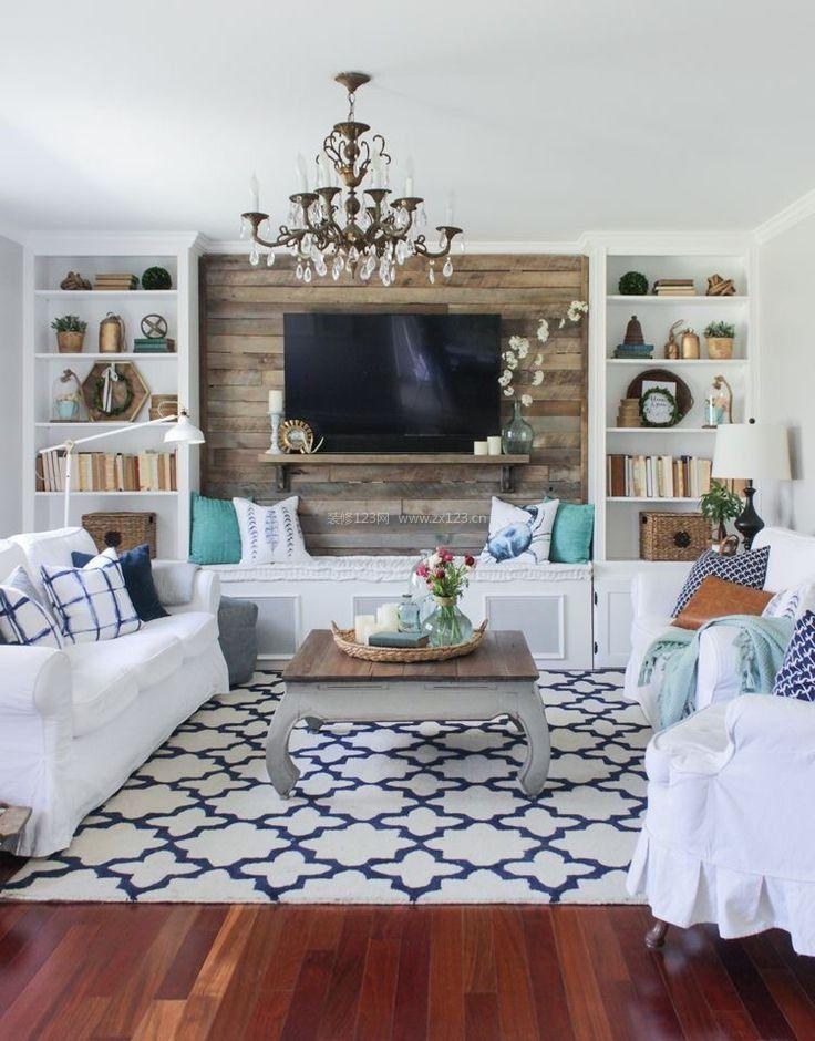 现代40平小户型客厅兼书房装修效果图片