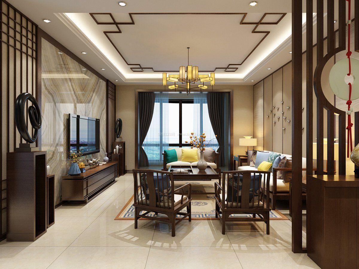 2017现代中式家装风格房子电视墙装修