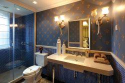 美式衛生間馬賽克背景墻裝修效果圖片