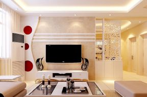 房子電視墻裝修 隔斷電視墻