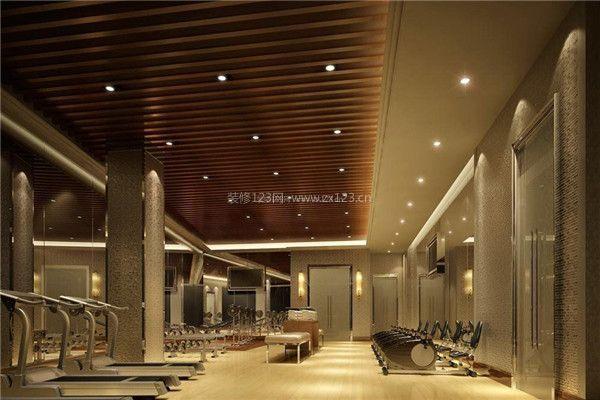 大型健身房室内吊顶装修设计效果图