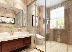 現代時尚風格家裝衛生間玻璃隔斷圖片